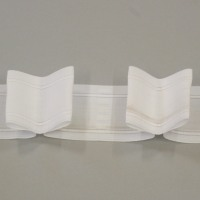 7 5cm 3in Box Pleat Heading Tape Woven Pocket White 10
