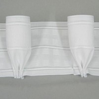 10cm 4in Goblet Pleat Heading Tape Woven Pocket White 4