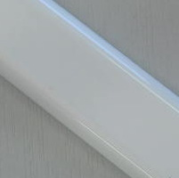 White flat aluminium bottom bar. 25mm wide. 2.99 metre lengths