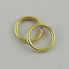 25 X Solid Brass Rings 12mm In Dia For Cording Blinds Ring12sb