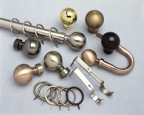 Decorative Metal Curtain Poles & Holdbacks