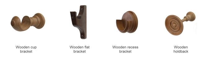 All Wooden Brackets Are Available In Twenty Six Finishes For 35mm 50mm And 63mm Poles
